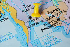 Bangkok map Royalty Free Stock Photography