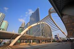 Public sky walk architecture like spider in Bangkok Royalty Free Stock Image