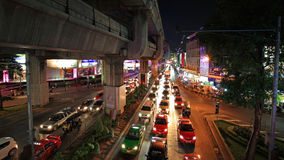 Traffic jam at Pathumwan junction in Bangkok Royalty Free Stock Images