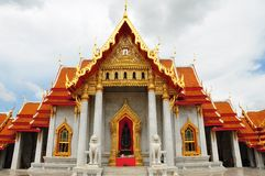 Bangkok - the marble temple Royalty Free Stock Photo