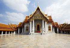 Bangkok. The marble temple. Royalty Free Stock Photography