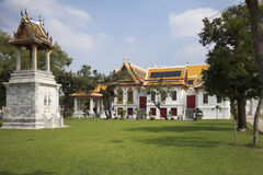 Bangkok. The marble temple. Stock Photo