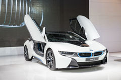 BANGKOK - MARCH 22: Image Zoom Of BMW I8 Car On Display At The 3 Royalty Free Stock Images