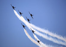 The acrobatic team Breitling Jet Team perform Stock Photography