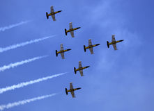 The acrobatic team Breitling Jet Team perform Stock Photo