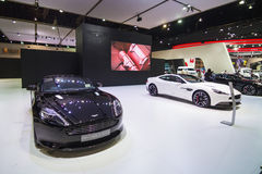 BANGKOK - MARCH 30: Aston Martin car on display at The 36th Bangkok International Motor Show on March 30, 2015 in Bangkok, Thailan Royalty Free Stock Images