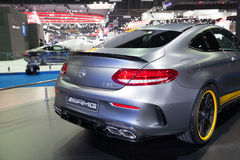 BANGKOK - MARCH 22: Back of  Mercedes Benz C 63s car on display Stock Image