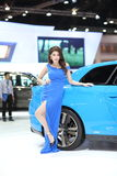 BANGKOK - MARCH 26 : Chevrolet  car with Unidentified model on display at The 34th Bangkok International Motor Show 2013 on March Stock Photography