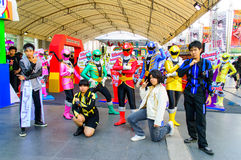 Cosplayer from Gokaigers. Stock Photos