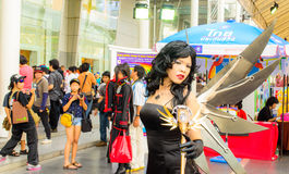 Cosplayer from Princess Ai. Royalty Free Stock Images
