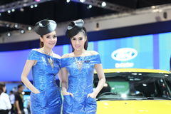 BANGKOK - MARCH 26 : Ford car with Unidentified model on display at The 34th Bangkok International Motor Show 2013 on March 26, 20 Royalty Free Stock Images