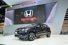 BANGKOK - March 26 : Honda HRV, Mini SUV, on DisPlay at 36th Ban Royalty Free Stock Images