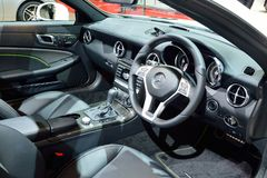 BANGKOK - March 26 : Interior design of Mercedes Benz SLK 200 Ca. Rbon Look on DisPlay at 36th Bangkok International Motor Show on March 26, 2015 in Bangkok stock image