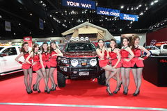 BANGKOK - MARCH 26 : ISUZU car with Unidentified model on display at The 34th Bangkok International Motor Show 2013 on March 26, 2 Royalty Free Stock Images
