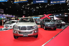 BANGKOK - MARCH 26: ISUZU D-MAX on display at The 34th Bangkok International Motor Show on March 26, 2013 in Bangkok, Thailand. Stock Photography