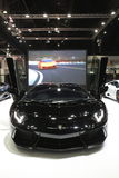 Bangkok - March 31 : Lamborghini huracan on black car at The 37th Bangkok International Thailand Motor Show 2016 on March 26, 2016 Stock Image