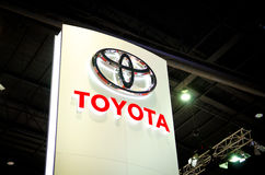 BANGKOK - MARCH 29 :  Logo of Toyota on display at Bangkok Inter Stock Photography