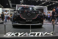 Bangkok - March 31 : Mazda CX-3 on black car at The 37th Bangkok International Thailand Motor Show 2016 on March 26 Stock Images