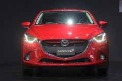 Bangkok - March 31 : Mazda 2 on red car at The 37th Bangkok International Thailand Motor Show 2016 on March 26 Royalty Free Stock Image