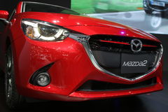 Bangkok - March 31 : Mazda 2 on red car at The 37th Bangkok International Thailand Motor Show 2016 on March 26 Stock Photo