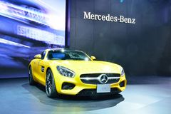 BANGKOK - March 26 : Mercedes Benz AMG-GTS on DisPlay at 36th Ba Royalty Free Stock Photo