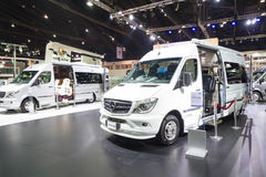 BANGKOK - MARCH 30: Mercedes benz modify car by airstream on display at The 36th Bangkok International Motor Show on March 30, 201 Stock Images