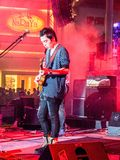 Musician is on the stage,Thailand,Thailand on 26 Mar 2011 royalty free stock photography