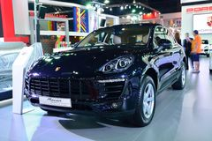 BANGKOK - March 26 : New Porsche Macan, Cross over Car, on DisPl Royalty Free Stock Images
