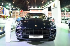BANGKOK - March 26 : New Porsche Macan, Cross over Car, on DisPl Stock Images
