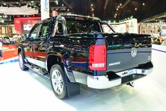 BANGKOK - March 26 : New Volkswagen Amarok , Pick up truck, on D Royalty Free Stock Image