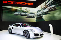 BANGKOK - MARCH 29 : Porsche 911 TURBO S on display at Bangkok I Stock Images