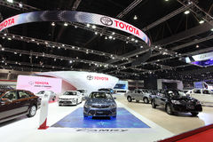BANGKOK - MARCH 25: Showroom of Toyota car  at The 36 th Bangkok Royalty Free Stock Photography