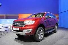 BANGKOK - MARCH 25: Side of Ford Everest car on display at The 3 Royalty Free Stock Photos