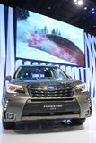 Bangkok - March 31 : Subaru Forestep 2.0 i-p on black car at The 37th Bangkok International Thailand Motor Show 2016 on March 26, Royalty Free Stock Photos