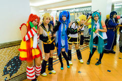 Japanese anime cosplay in Comic Party 46th. Stock Photo