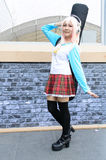 An unidentified Japanese anime cosplay pose. Royalty Free Stock Photo
