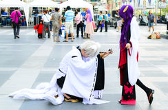 An unidentified Japanese anime cosplay pose. Stock Images