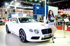 BANGKOK - MARCH 29 : Unidentified model with BENTLEY Continental Stock Photography