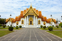 bangkok marmortempel thailand Arkivfoton