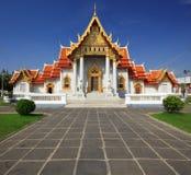 bangkok marmortempel thailand Arkivfoto
