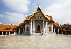 Bangkok Marmortemplet Royaltyfri Fotografi