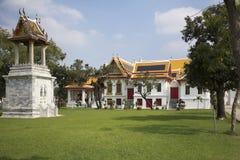 Bangkok Marmortemplet Arkivfoto
