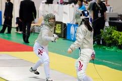 Asiatiska junior- & Cadetfäktningmästerskap 2013 Royaltyfri Fotografi