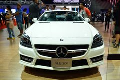 BANGKOK - Mars 26: Mercedes Benz SLK 200 kolblick, sport Co Royaltyfri Fotografi