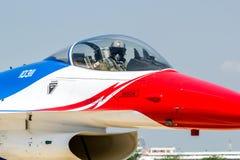 BANGKOK - 23 MARS : Salon de l'aéronautique thaïlandais d'équipe de Breitling Jet Team Under The Royal Sky Breitling et d'Armée de Images stock