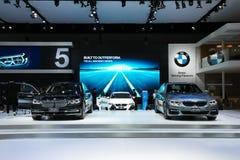 BANGKOK Marzec 28, BMW i 740 Le xDrive Czyści Ex, Wszystkie nowe 5 serii Obraz Royalty Free