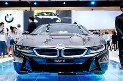 BANGKOK, MARZEC - 29: BMW i8 Seria samochód na pokazie przy Bangkok Inte Fotografia Royalty Free