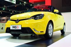 BANGKOK - Marzec 26: MG 3 Hatchback samochód z 1500 cc VTi silnikiem obraz royalty free