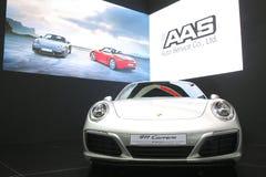 Bangkok, Marzec - 31: Porsche 911 carrera na białym samochodzie przy 37th Bangkok Tajlandia Międzynarodowym Motorowym przedstawie Obrazy Royalty Free