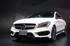 Bangkok - 31 marzo: CLA 45 di Mercedes Benz sull'automobile bianca al trentasettesimo salone dell'automobile internazionale di Ba Immagini Stock